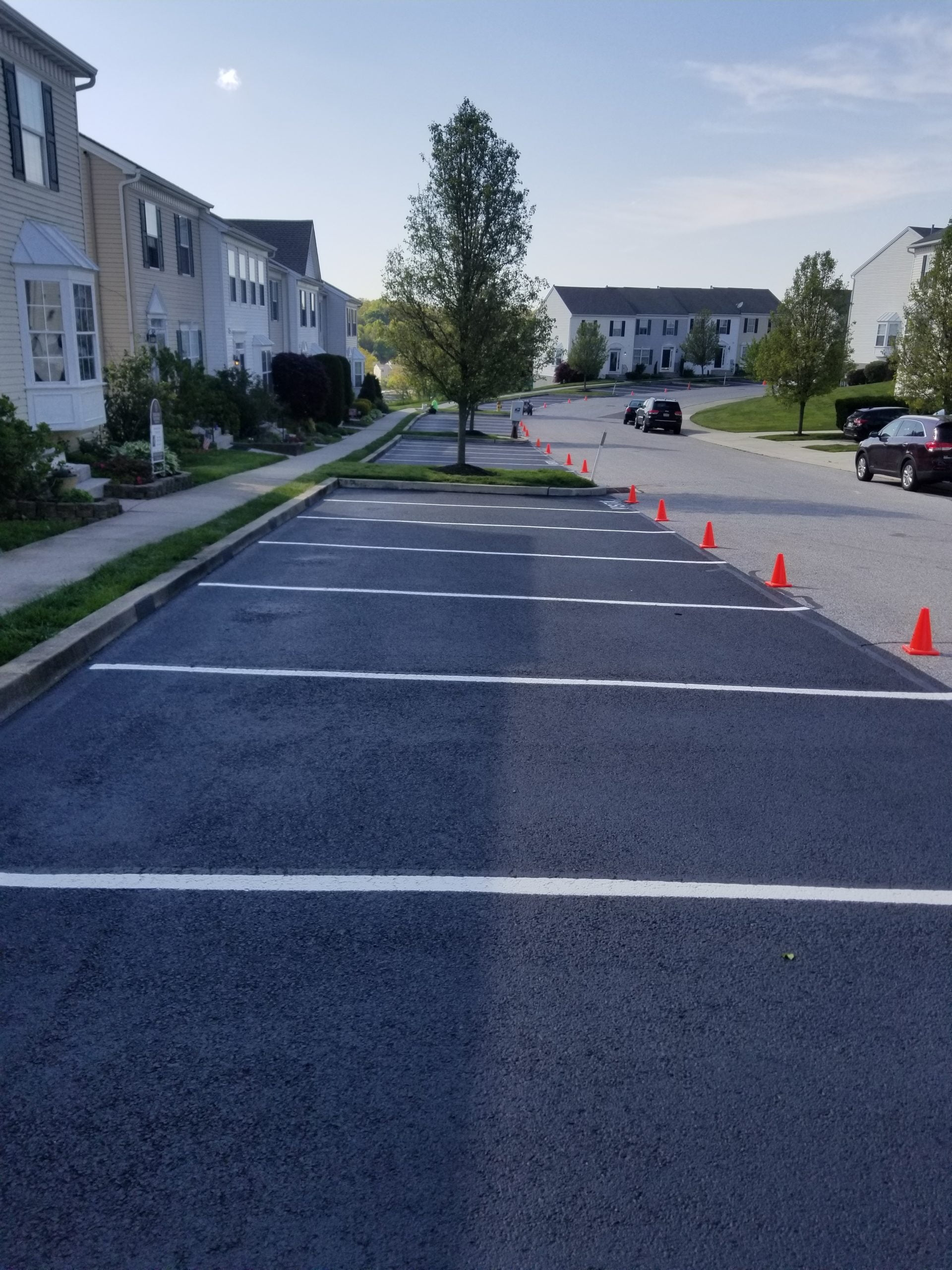New Freedom Parking lot gets Sealcoated